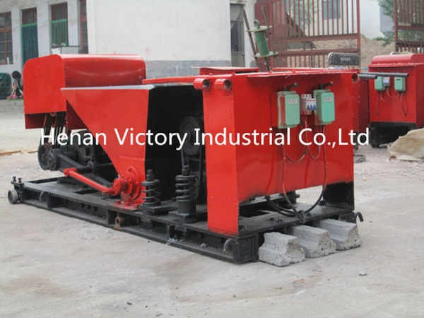 Prestressed concrete T beam machine